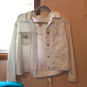 White floral jacket